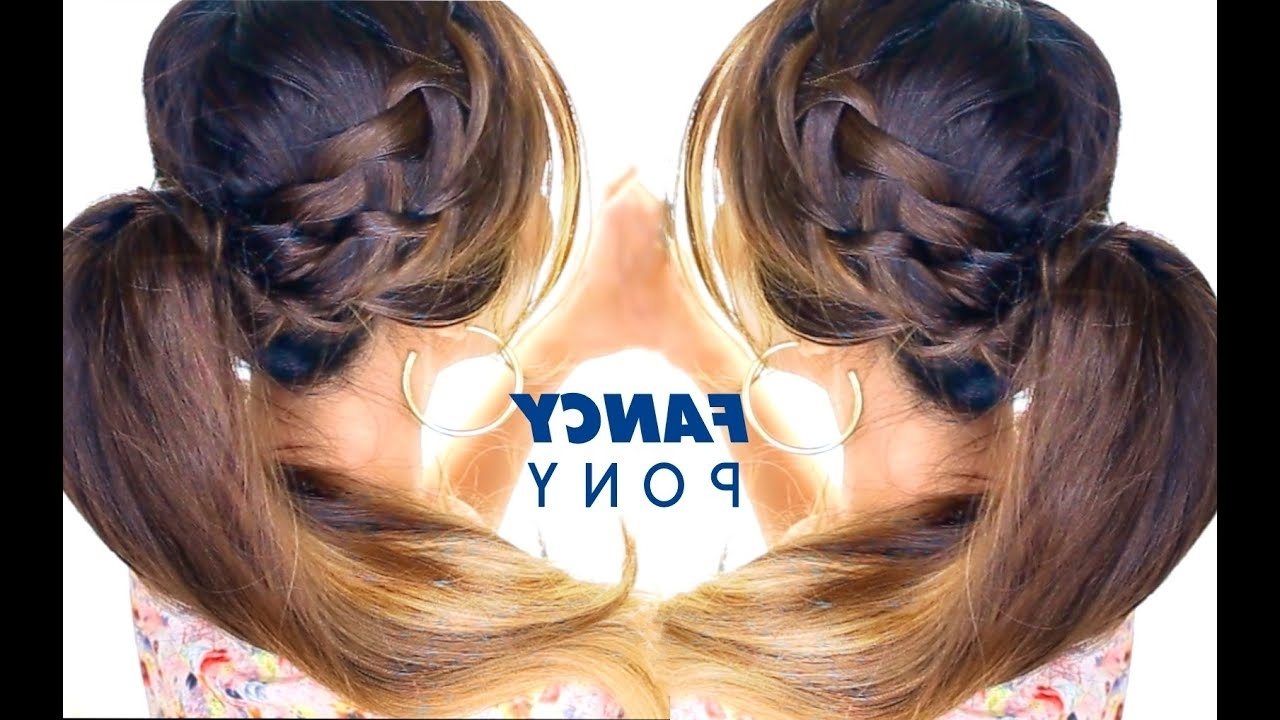 Hair Throughout Trendy French Braid Ponytail Hairstyles With Bubbles (View 3 of 20)