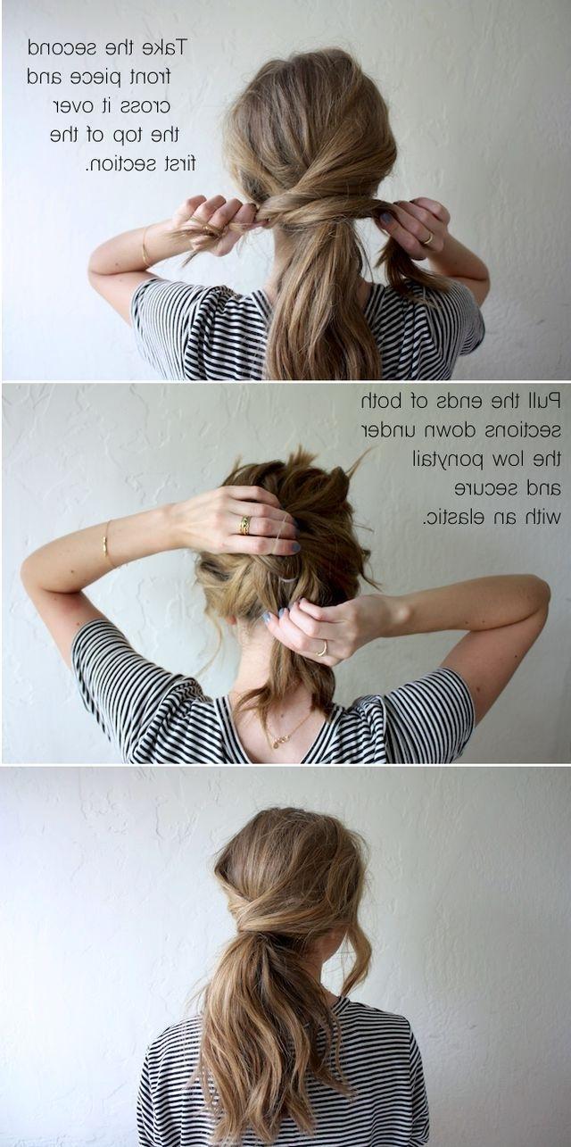 Hair Tutorial: Messy Crossover Pony (Truelane) (View 3 of 20)