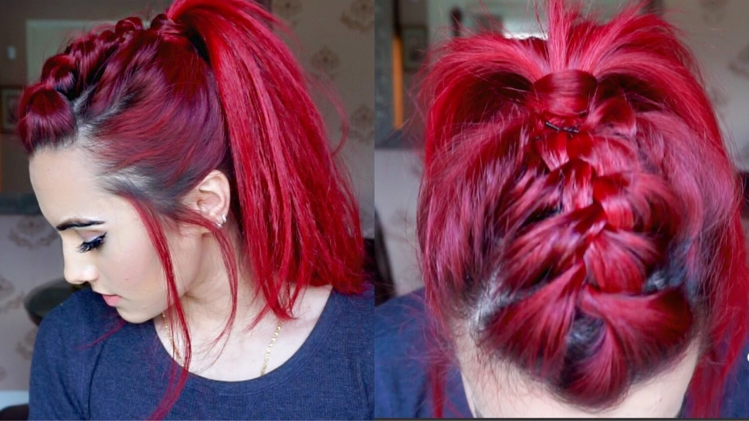 Hairstyle Guru With Trendy Messy Double Braid Ponytail Hairstyles (View 9 of 20)