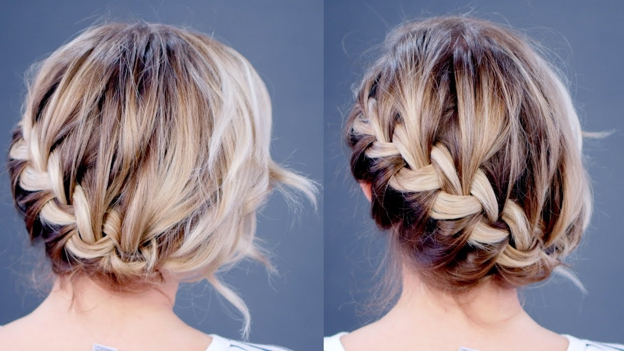 Hairstyle Of The Day: Simple Diagonal French Braid Updo (View 16 of 20)
