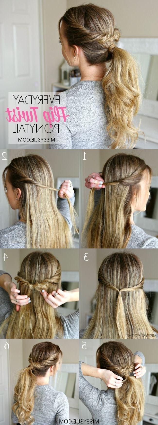 Healthy Hair Tips & Styles With Fashionable Twisted And Pinned Blonde Ponytails (View 11 of 20)