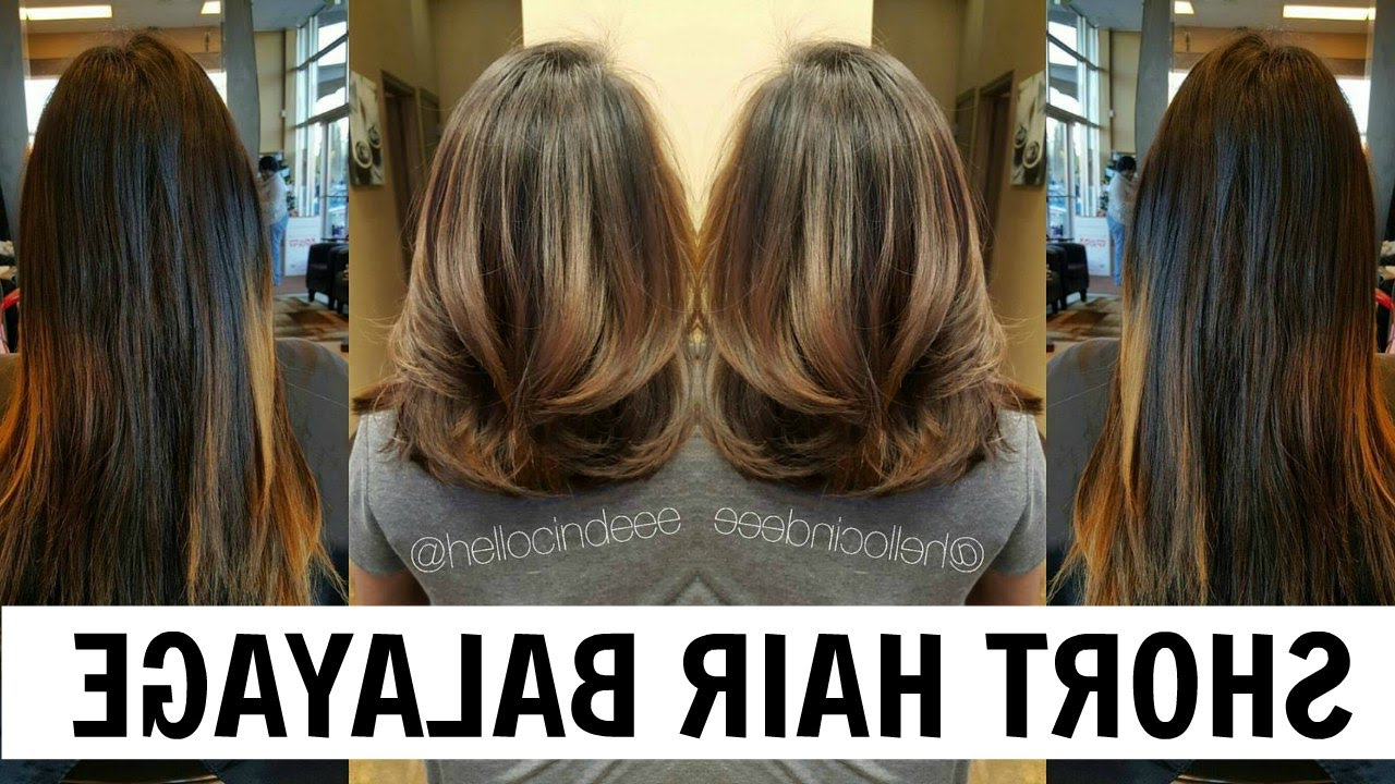 Hellocindee – Balayage Tutorial For Short Hair *asian Hair* – Youtube For Short Bob Hairstyles With Dimensional Coloring (View 19 of 20)
