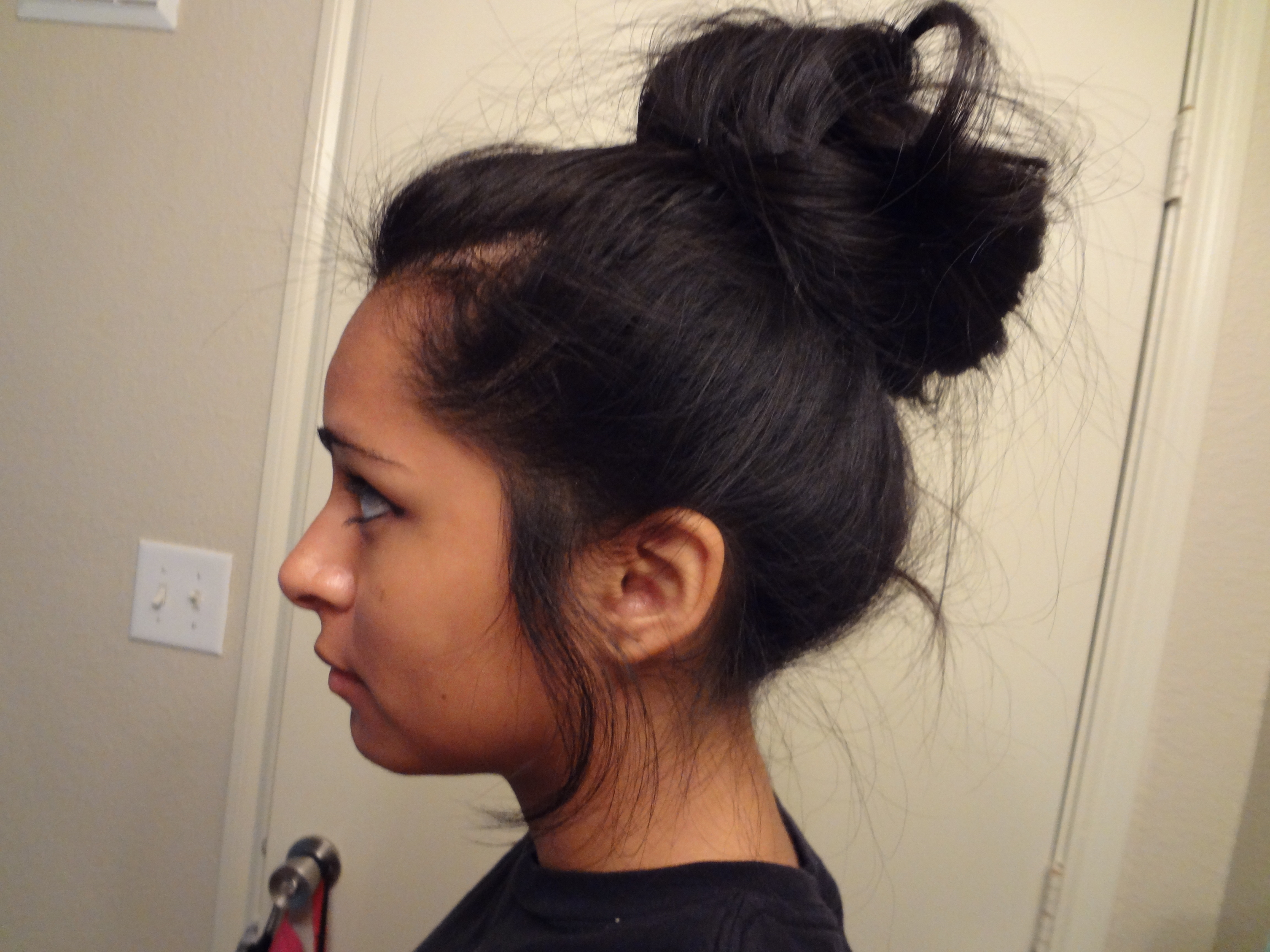 High Bun For Girls With Freaking Long Hair! (like Me~) – Cilla44 With Shorter Black Messy Hairstyles (View 6 of 20)