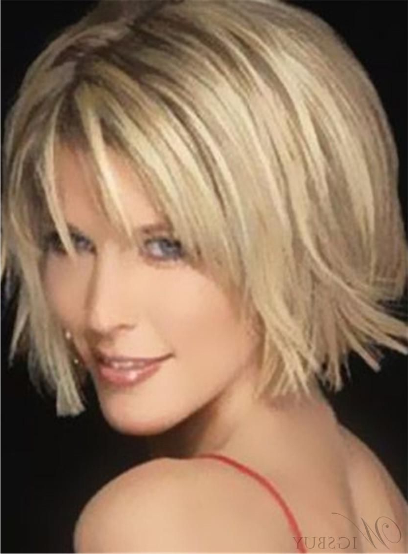 Hot Sale Short Straight Bob Hairstyle Capless Synthetic Wig 12 With Short Straight Bob Hairstyles (View 17 of 20)