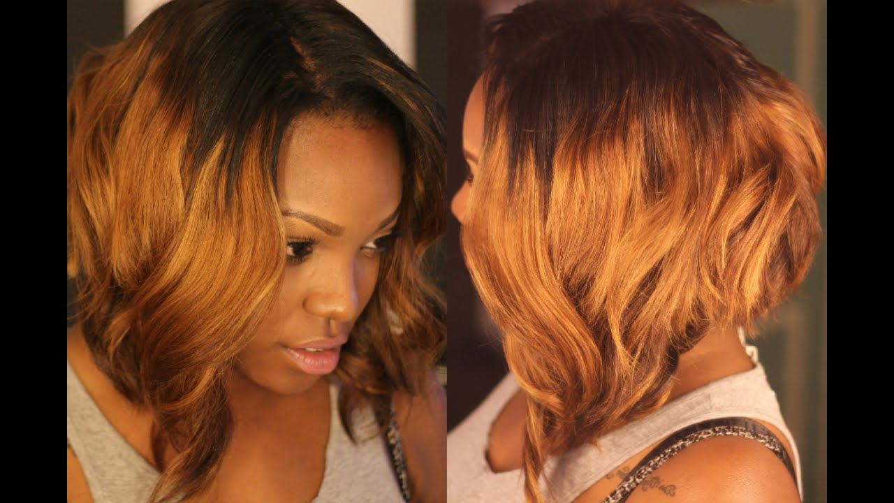 How I: Cut & Razored My Ombre Bob – Youtube Inside Razored Brown Bob Hairstyles (View 9 of 20)