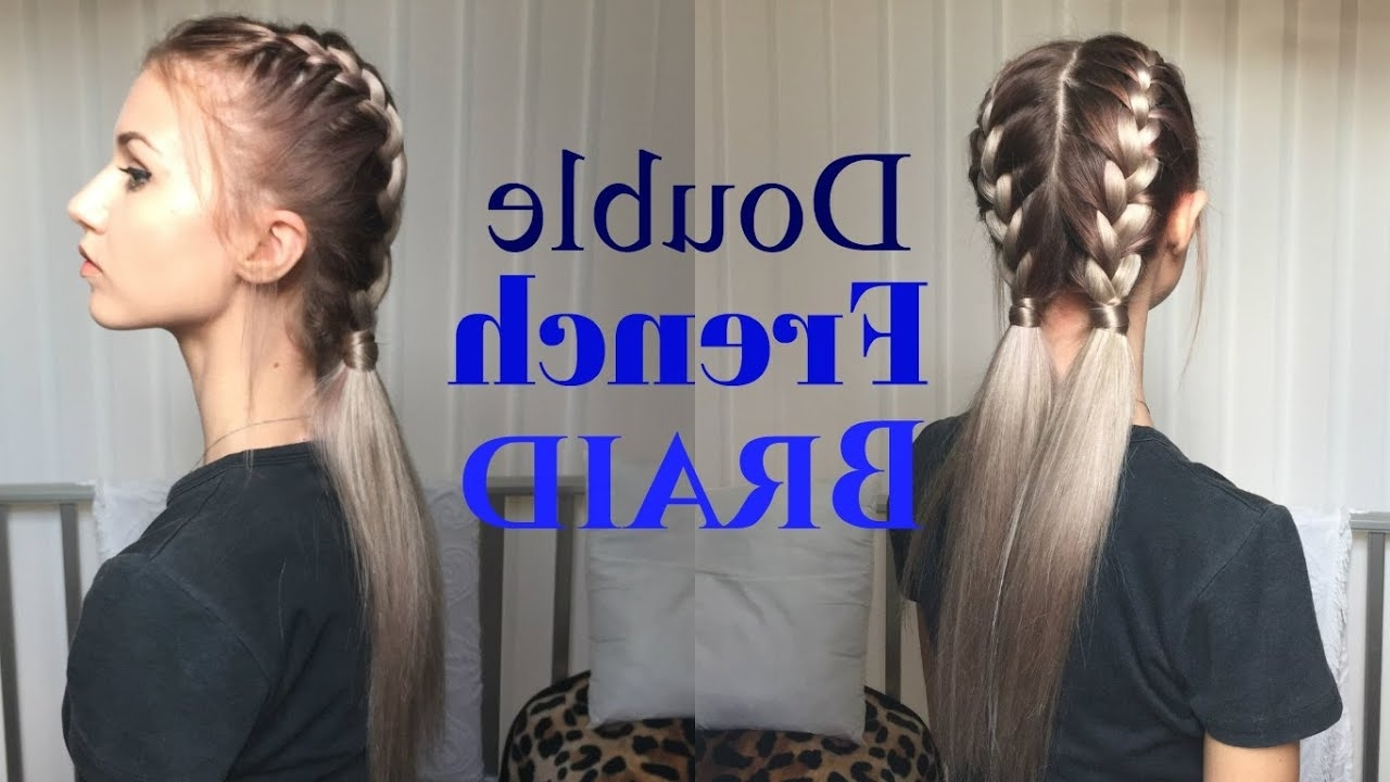 How To: Awesome, Easy Double French Braid (View 12 of 20)
