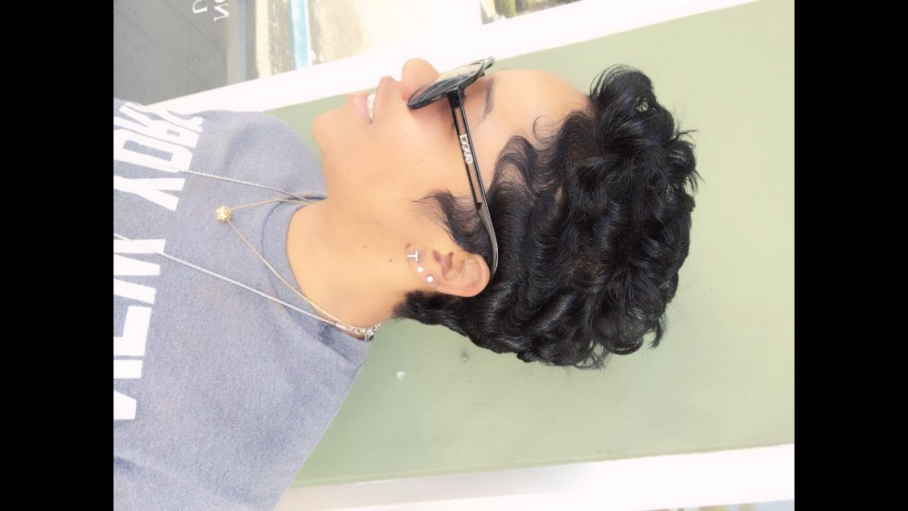 How To Curl Short Hair (Black Hair) – Youtube For Short Black Hairstyles With Tousled Curls (View 14 of 20)