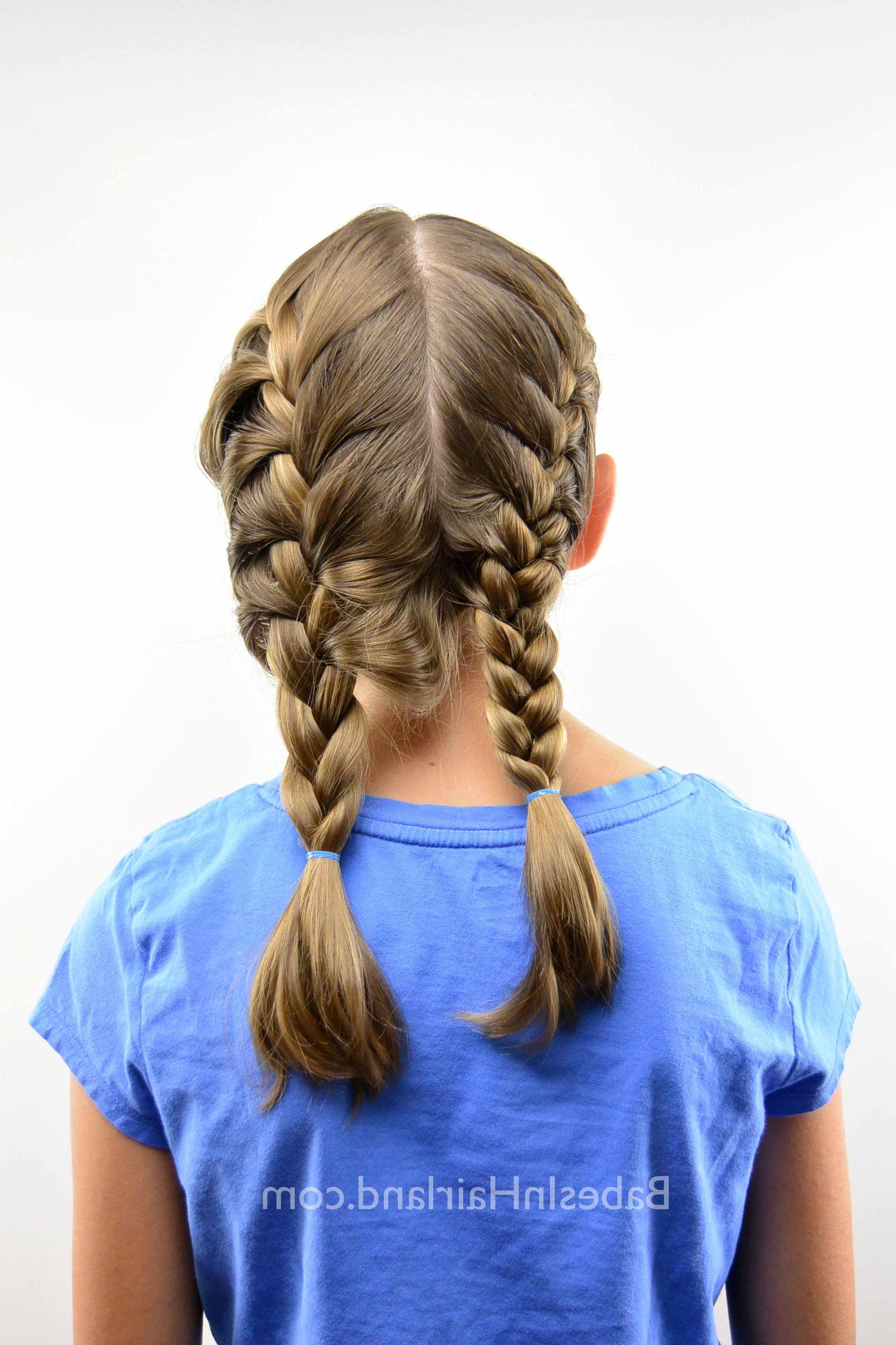 How To Get A Tight French Braid – Babes In Hairland Pertaining To Famous French Braid Ponytail Hairstyles With Bubbles (View 15 of 20)