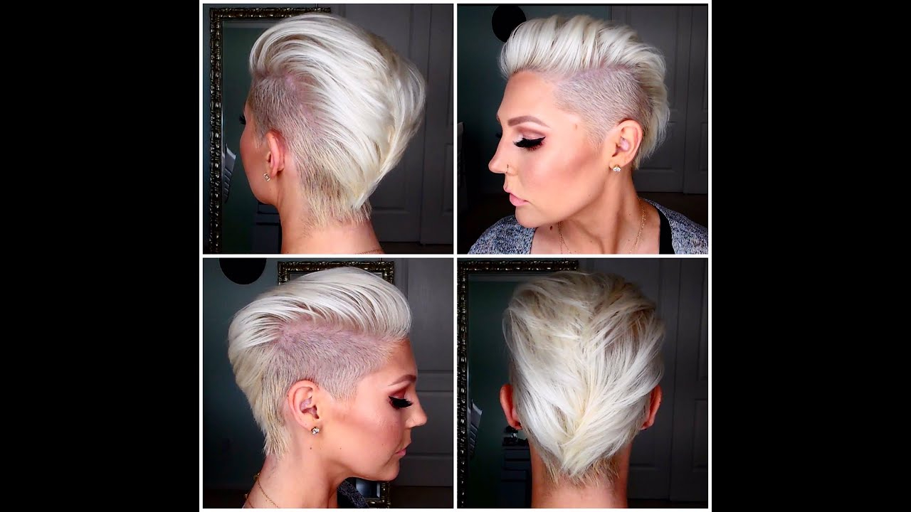 How To Get & Maintain Short Platinum Blonde Hair – Youtube Intended For Ash Blonde Undercut Pixie Haircuts (View 15 of 20)