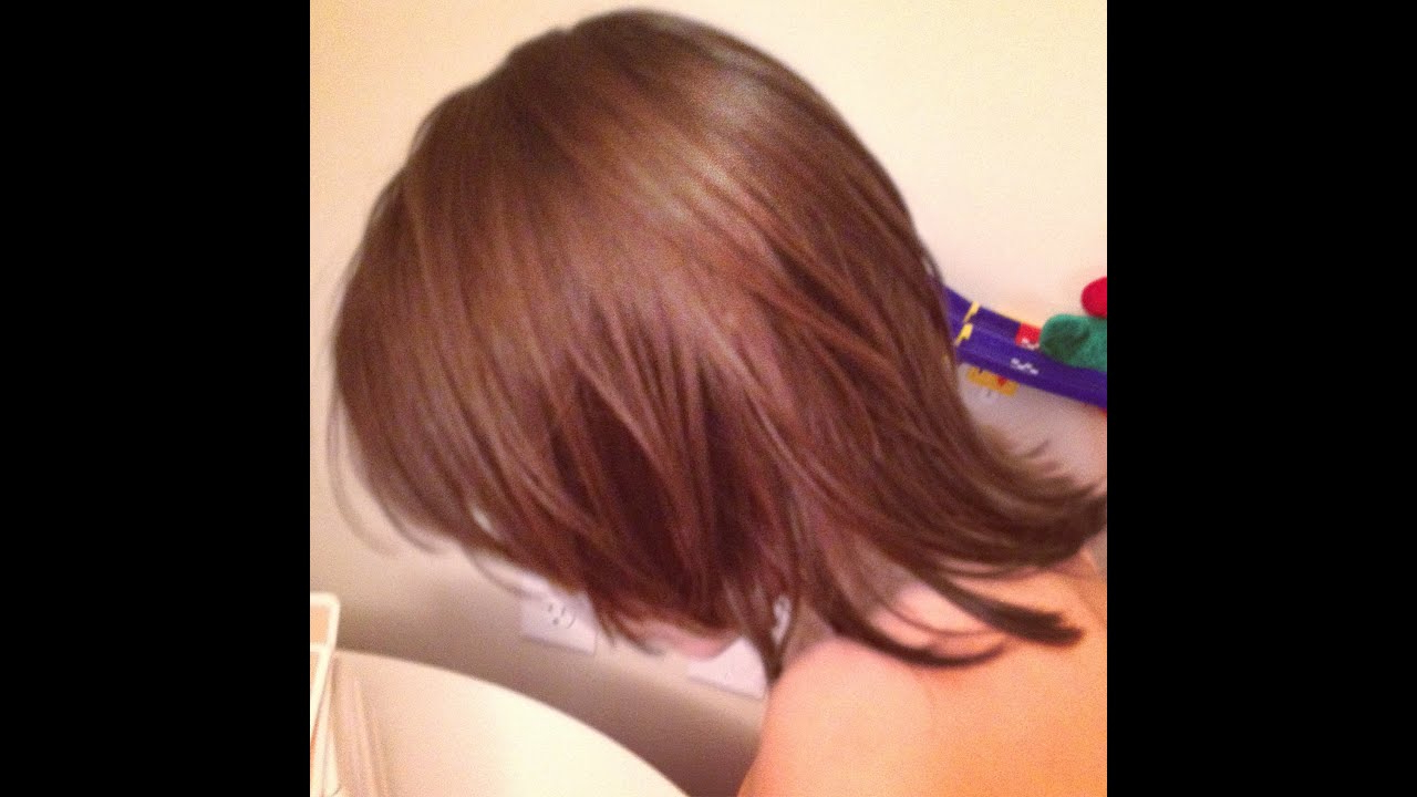 How To Layered Medium Length Hair Cut – Youtube With Regard To Messy Pixie Haircuts With V Cut Layers (View 16 of 20)