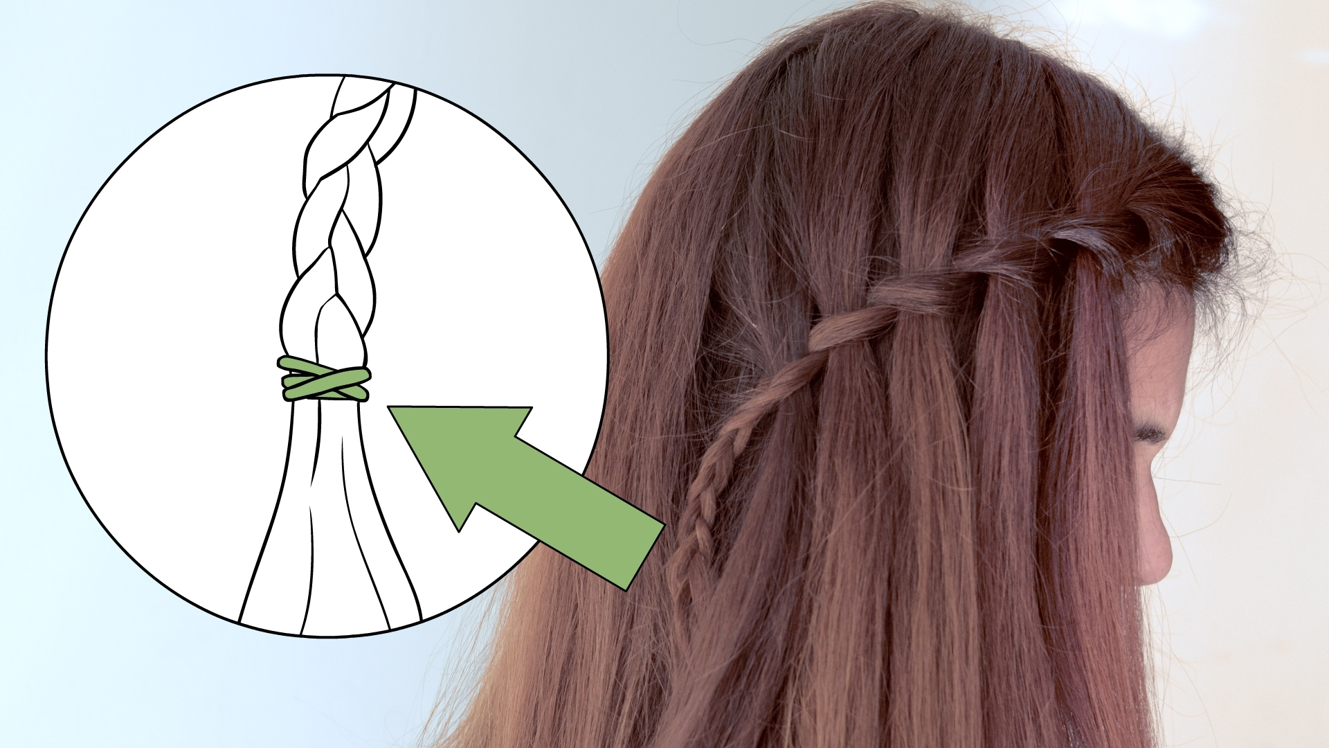 How To Make A Cascade Waterfall Braid: 10 Steps (With Pictures) With Popular Cascading Braided Ponytails (View 13 of 20)