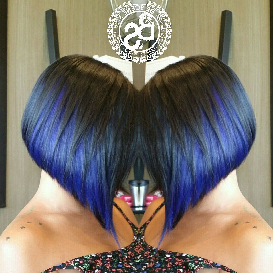 How To: Peek A Boo A Line Bob – Hair Color | Hair | Pinterest | Hair Throughout Extreme Angled Bob Haircuts With Pink Peek A Boos (View 10 of 20)
