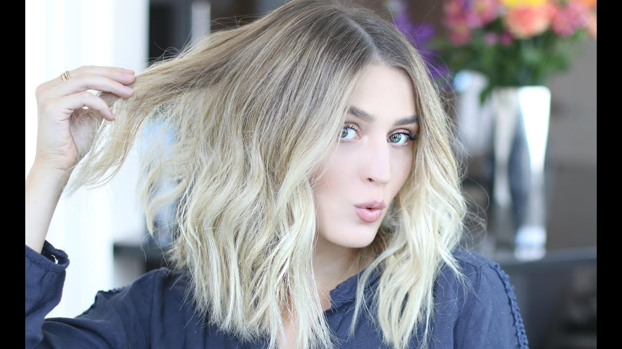 How To Style A 'lob' | Easy Voluminous & Tousled Waves – Youtube Intended For Tousled Beach Bob Hairstyles (View 16 of 20)