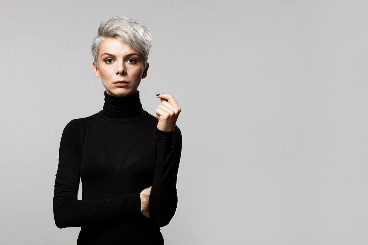How To Style A Pixie Cut, Plus 7 Style Ideas Within Sleek Metallic White Pixie Bob Haircuts (View 17 of 20)
