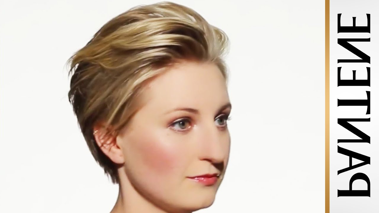 How To Style Short Hair: Swept Back Pixie Cut – Youtube Inside Sweeping Pixie Hairstyles With Undercut (View 15 of 20)