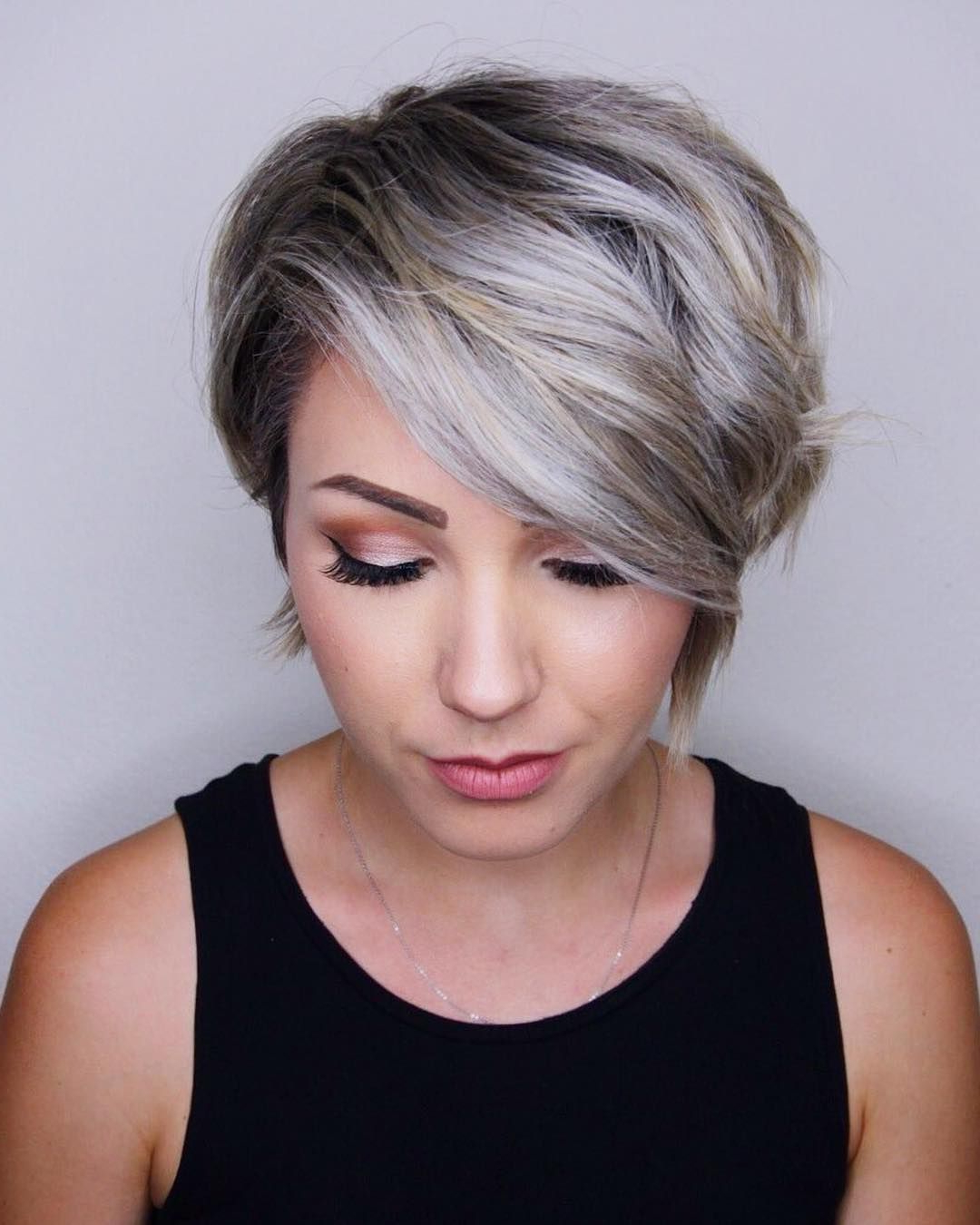 Icy Blonde Hair, Short Hair, Pixie Hair, @chloenbrown | H A I R In Pertaining To Icy Poker Straight Razored Pixie Haircuts (View 2 of 20)