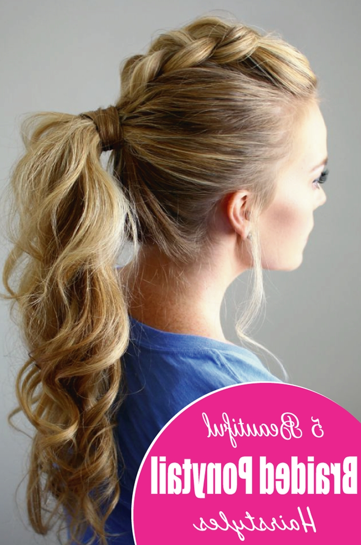 If Your Hair Is Longer And Thicker, This Upside Down Braided For Best And Newest Beautifully Braided Ponytail Hairstyles (View 11 of 20)