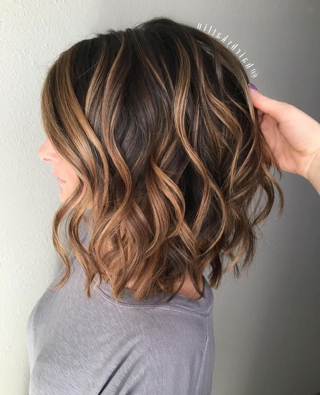 Image Result For Caramel Highlights On Dark Brown Curly Hair Medium Within Brown Curly Hairstyles With Highlights (View 13 of 20)