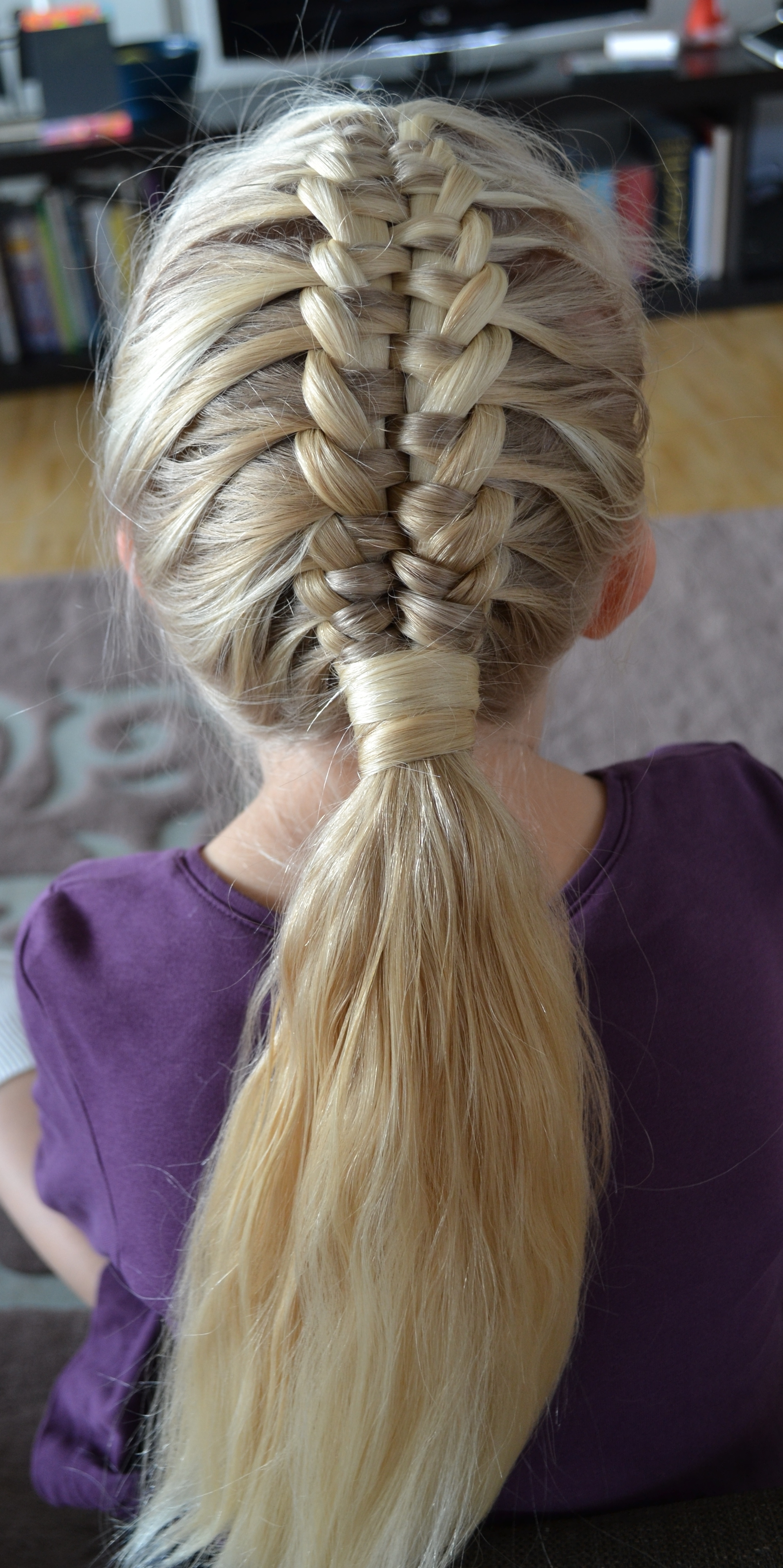Jennishairdays Throughout Latest French Braid Ponytail Hairstyles With Bubbles (Gallery 20 of 20)