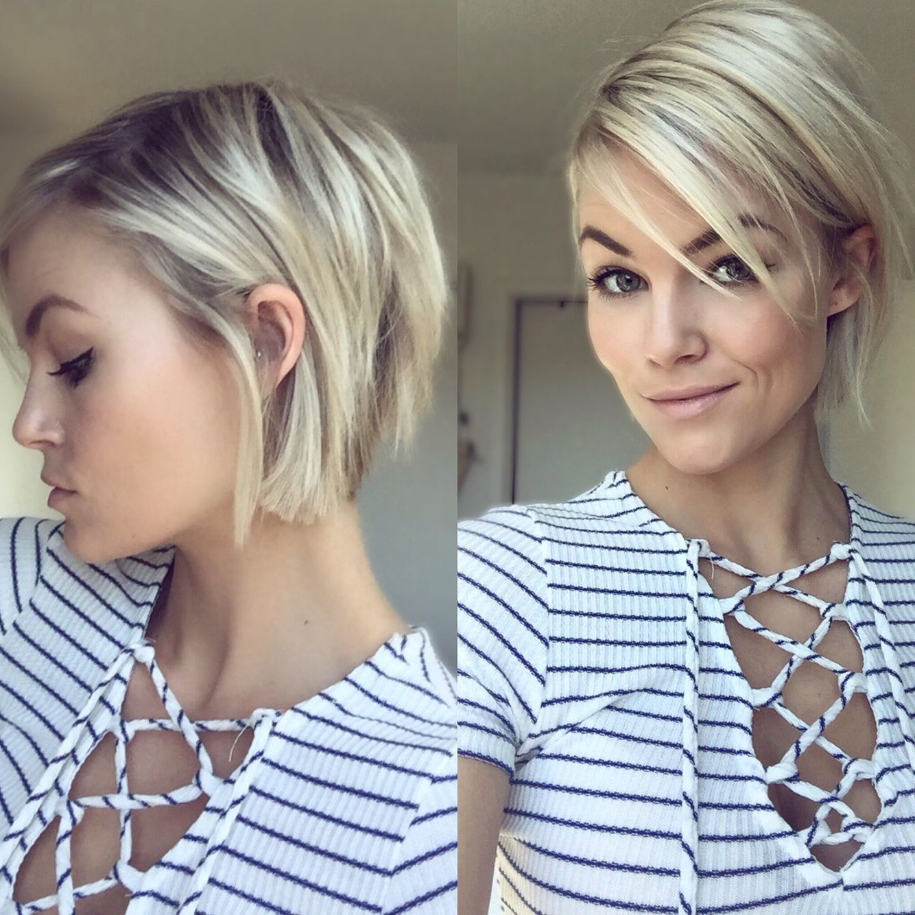 Krissafowles Short Choppy Blonde Hair | Hair In 2018 | Pinterest With Undercut Bob Hairstyles With Jagged Ends (View 15 of 20)