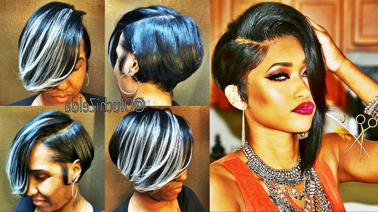 Latest 30 Showiest Bob Haircuts For Black Women – Youtube Inside Two Tone Curly Bob Haircuts With Nape Undercut (View 14 of 20)