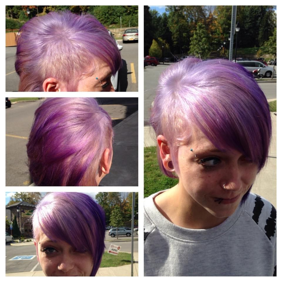 Lavender To Violet Ombre Hair I Did. Asymmetrical Haircut (View 10 of 20)