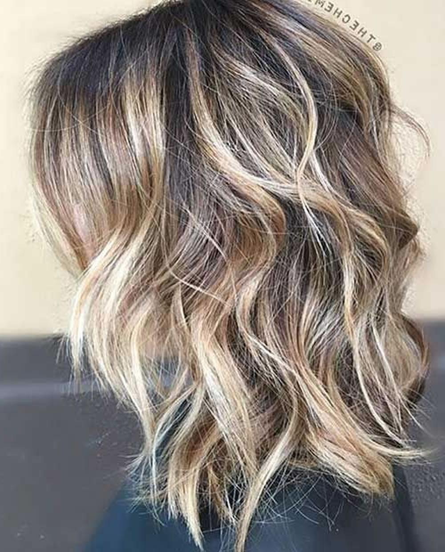 Layered Long Bob Hairstyles And Lob Haircuts 2018 – Hairstyles Inside Balayage Bob Haircuts With Layers (View 17 of 20)