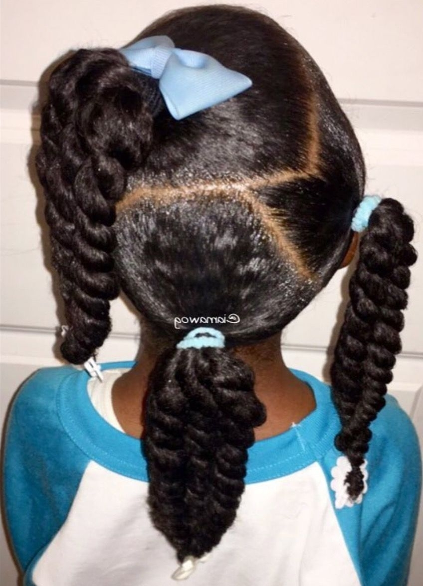 Little Black Girl Ponytail Hairstyles (View 12 of 20)
