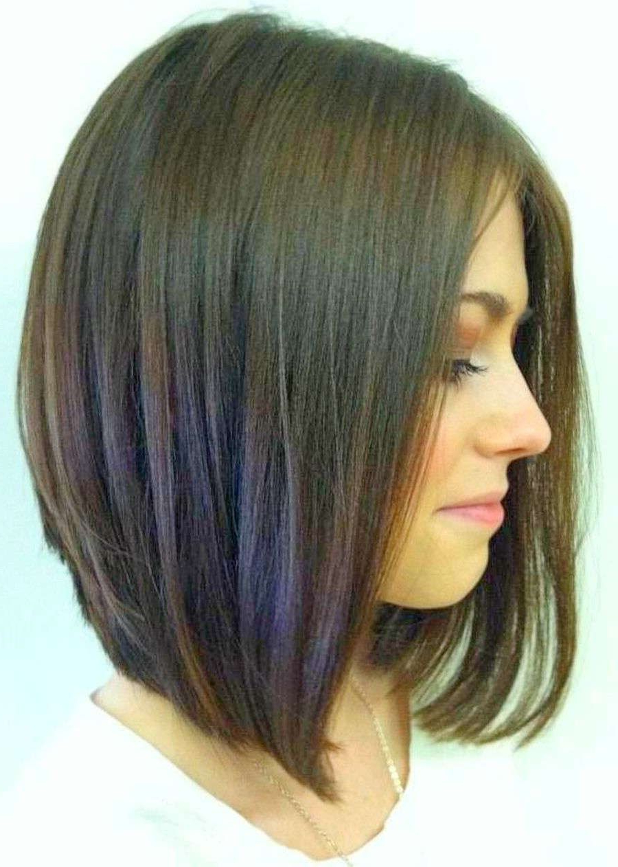 Long Bob Haircuts Back View | Bob Cuts | Pinterest | Hair, Hair Throughout Rounded Tapered Bob Hairstyles With Shorter Layers (Gallery 5 of 20)