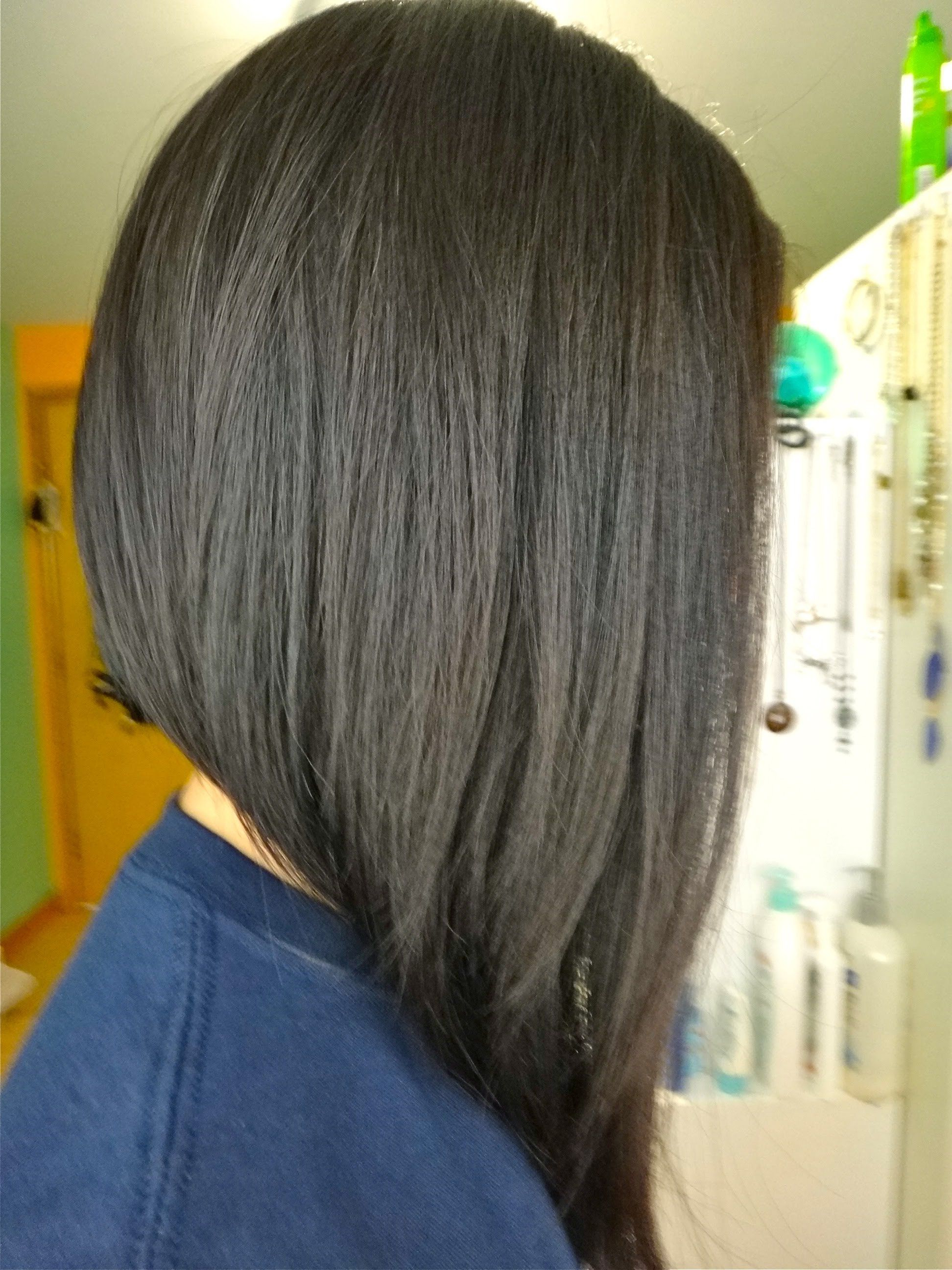 Long Bob Haircuts Back View | Hairy Situation | Pinterest | Hair Pertaining To Side Parted Asymmetrical Gray Bob Hairstyles (View 17 of 20)