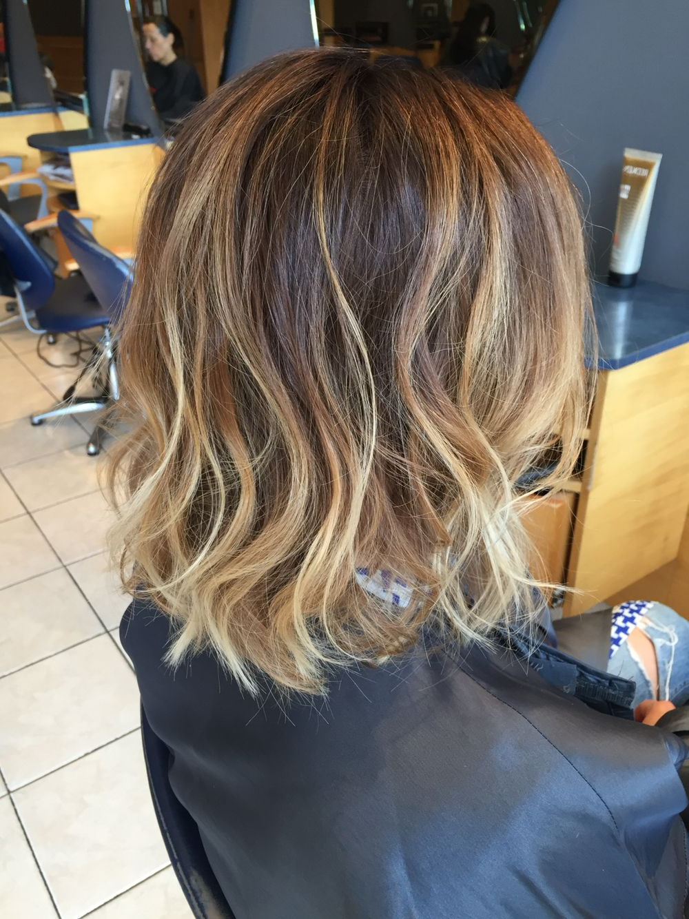 Long Bob With Ombré Colour Then Loosely Waved With The Ghd Wand Regarding Loosely Waved Messy Brunette Bob Hairstyles (Gallery 4 of 20)