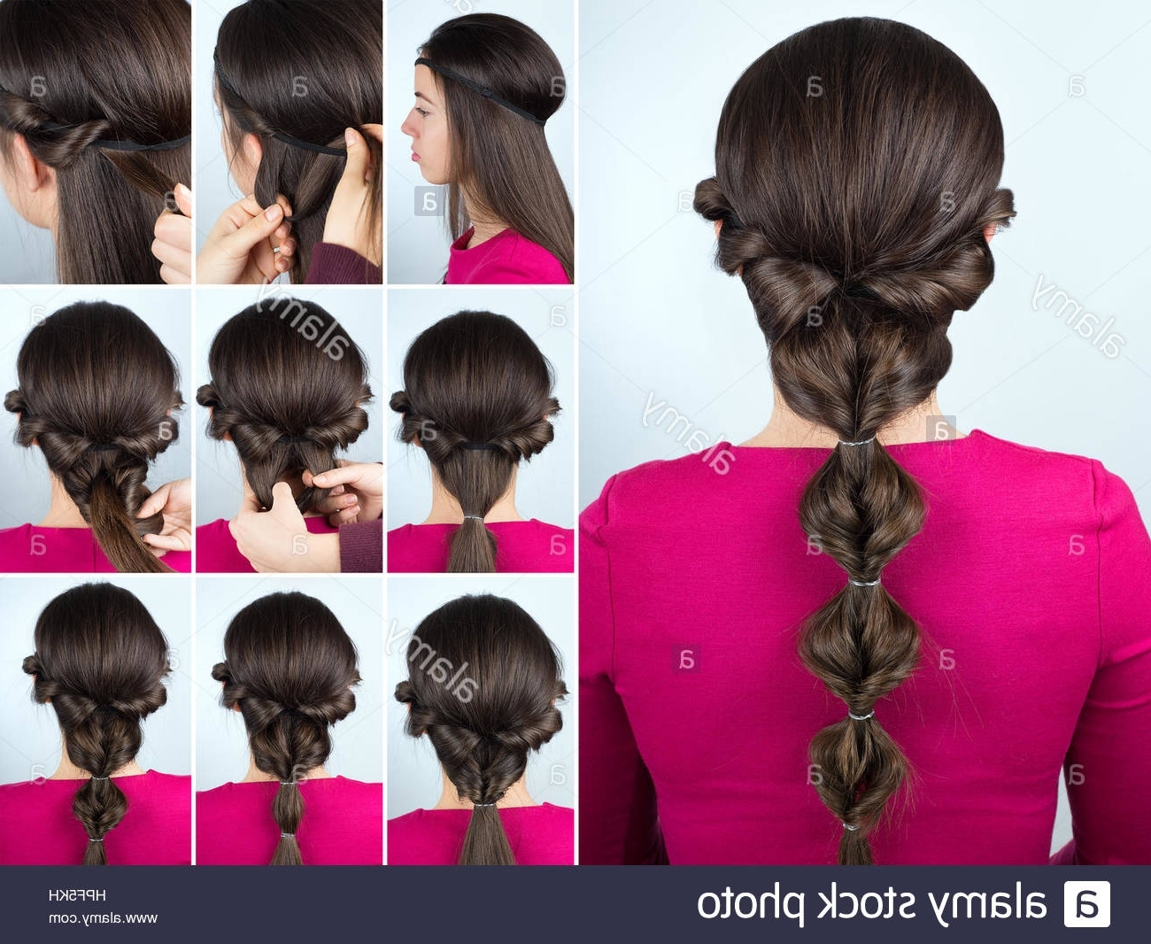 Long Twisted Hair Stock Photos & Long Twisted Hair Stock Images – Alamy With Regard To Most Up To Date Tangled And Twisted Ponytail Hairstyles (View 16 of 20)