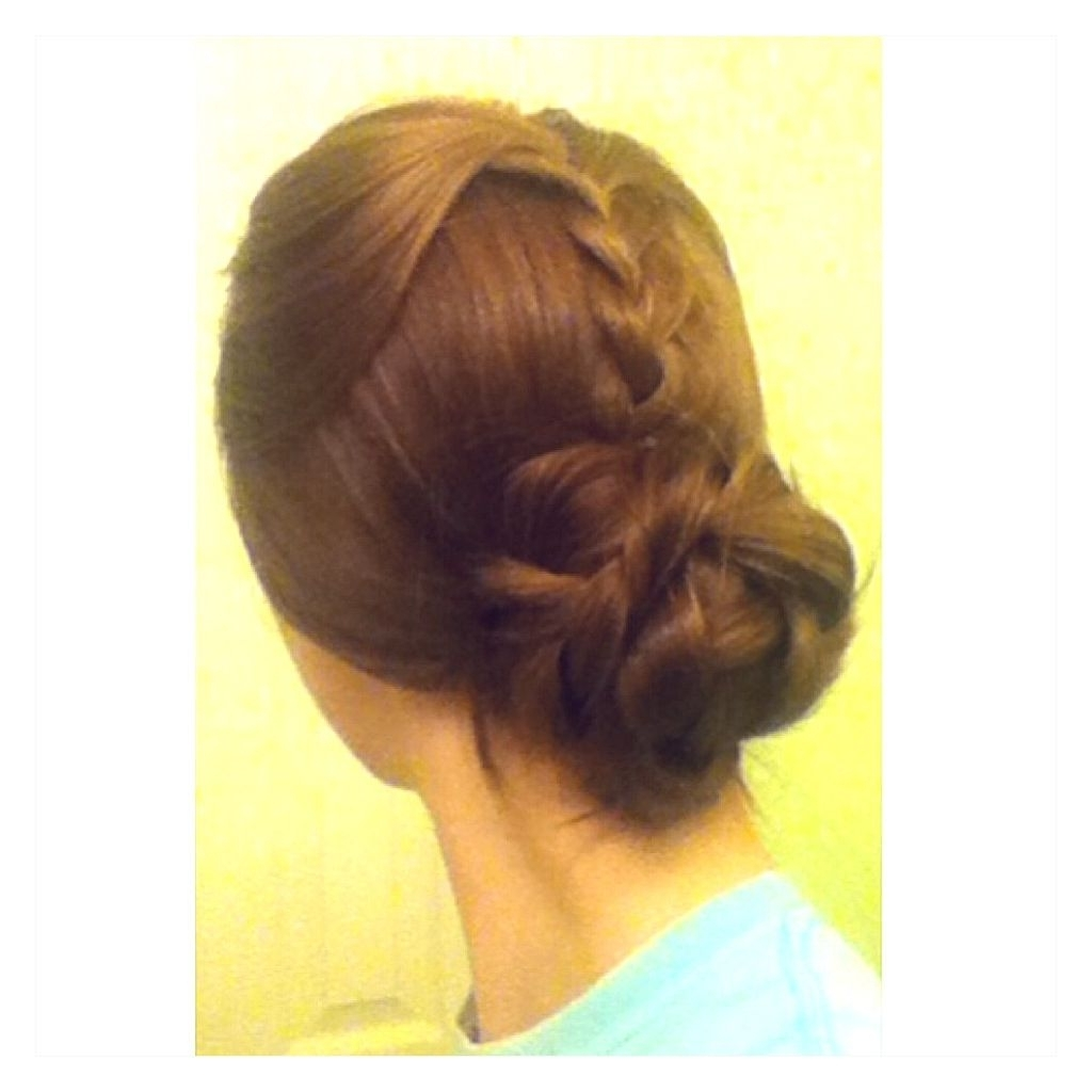 Loosely Braid Top Layer Of Hair; Add Braid To Ponytail Near The Nape Pertaining To Well Known Loosely Braided Ponytail Hairstyles (Gallery 2 of 20)