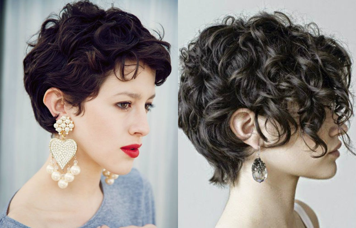Lovely Short Curly Haircuts You Will Adore | Hairdrome Regarding Long Messy Curly Pixie Haircuts (Gallery 5 of 20)