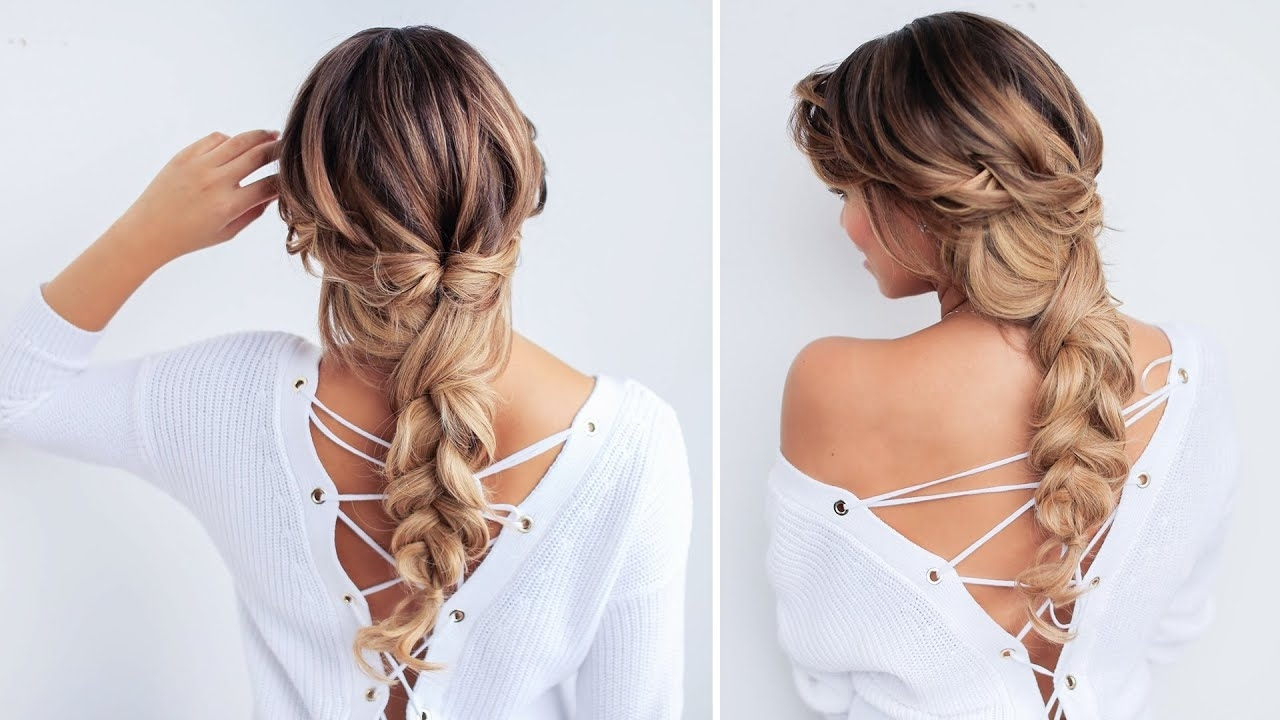Luxy Hair – Youtube With Most Up To Date Loosely Braided Ponytail Hairstyles (View 20 of 20)