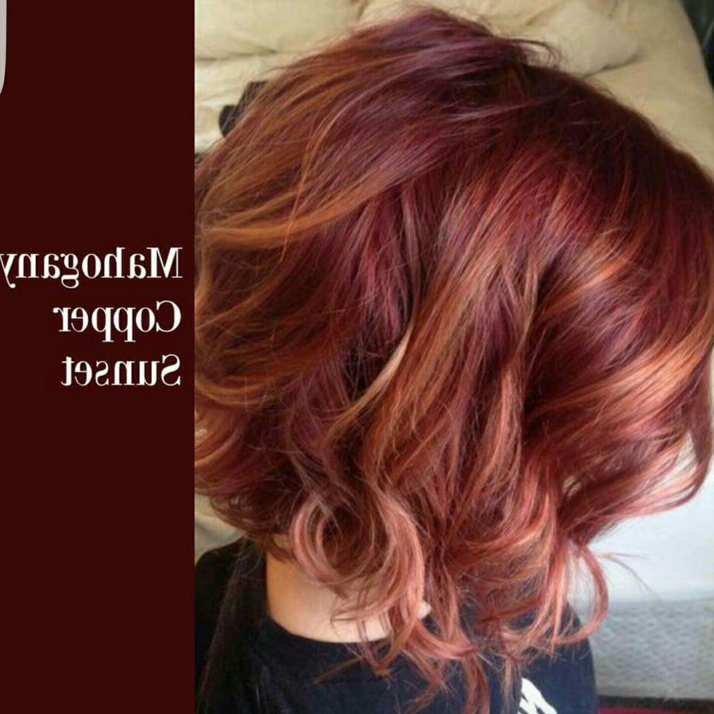 Mahogany Copper Sunset | Hair Ideas In 2018 | Pinterest | Hair, Hair With Burgundy And Tangerine Piecey Bob Hairstyles (View 4 of 20)