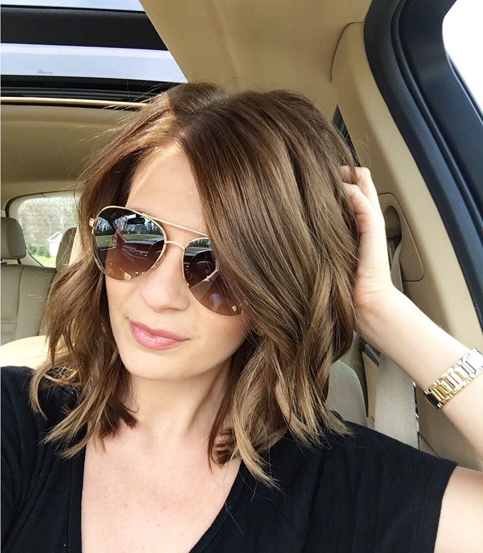 Medium Length Hairstyle | Messy Waves | Hair Styles, Tips And Tricks Intended For Nape Length Brown Bob Hairstyles With Messy Curls (View 19 of 20)