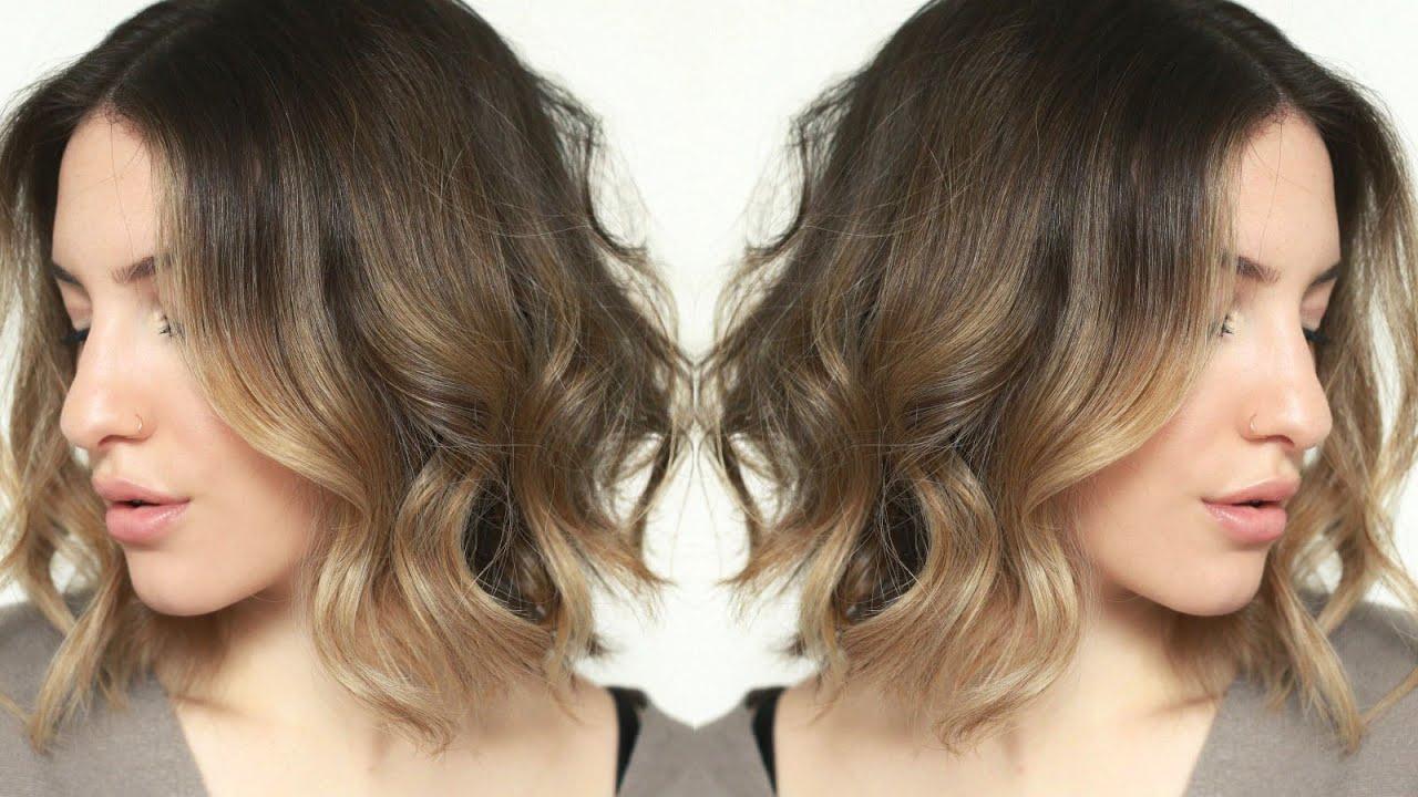 Messy + Effortless Waves | Short Hair Tutorial | Jamiepaigebeauty In Loosely Waved Messy Brunette Bob Hairstyles (View 18 of 20)