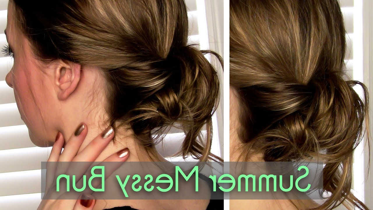 Messy, Twisted Bun In 2 Minutes || Rachhloves – Youtube For Short Messy Hairstyles With Twists (View 12 of 20)