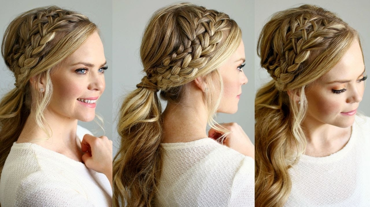 Featured Photo of Twin Braid Updo Ponytail Hairstyles