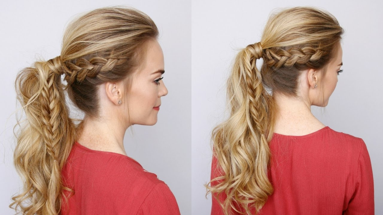 Missy Sue – Youtube Pertaining To Most Up To Date Fabulous Fishtail Side Pony Hairstyles (View 8 of 20)