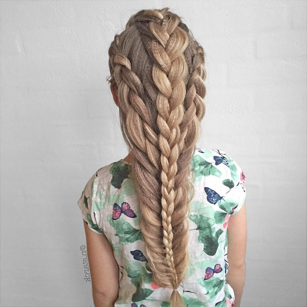 Most Current Fantastical French Braid Ponytail Hairstyles Regarding Pinfayette Dream On Fairy Fantasy Hair (View 10 of 20)