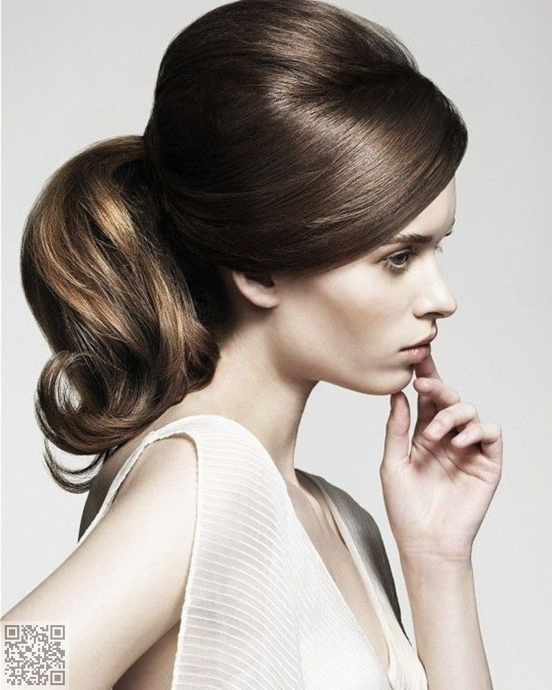 Most Current Twisted Retro Ponytail Updo Hairstyles For (View 5 of 20)