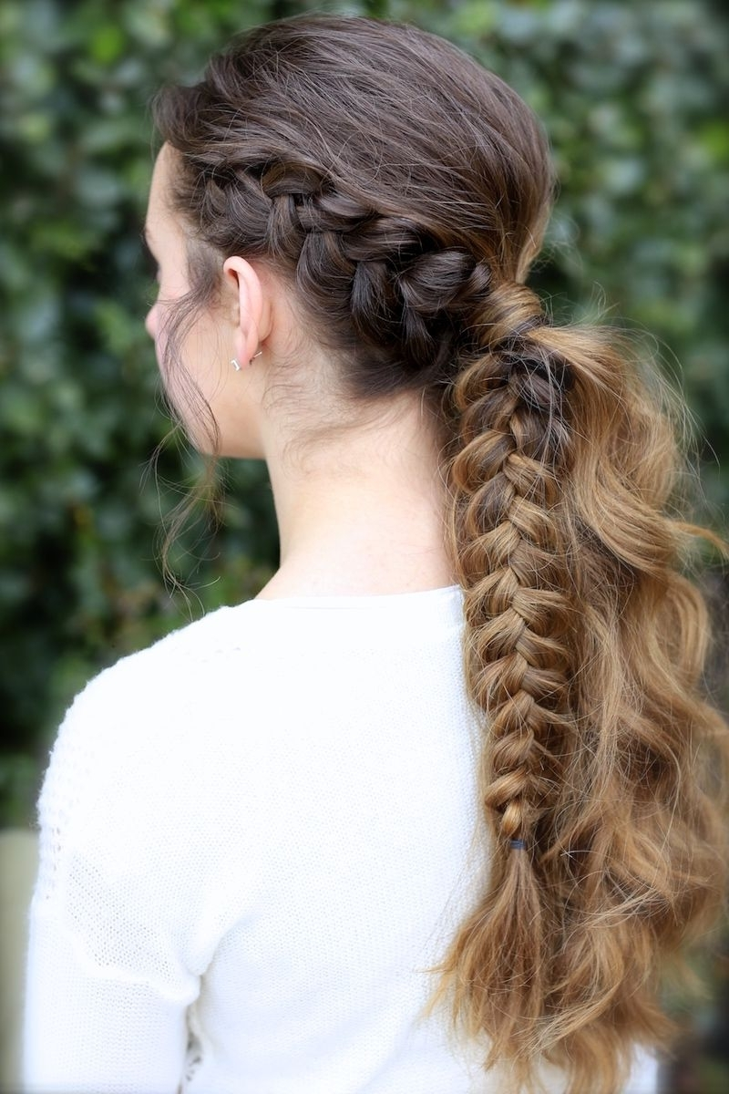 Most Popular Fantastical French Braid Ponytail Hairstyles Inside The Viking Braid Ponytail (View 11 of 20)
