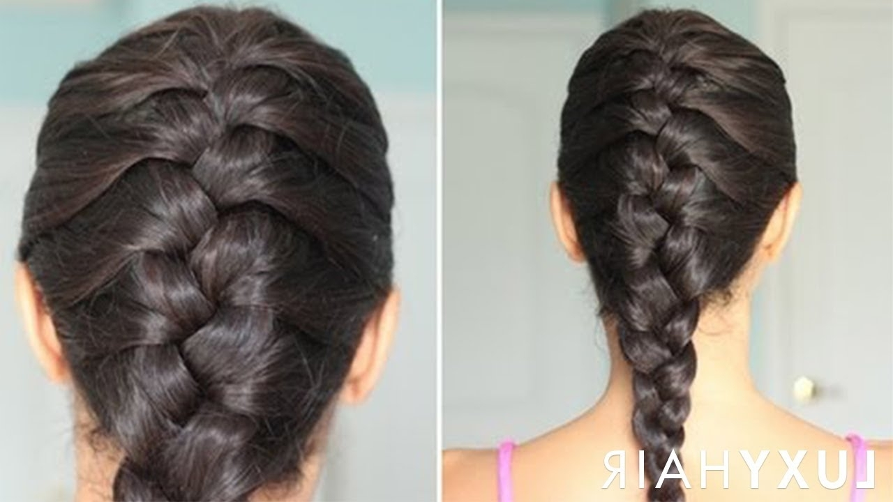 Most Popular Intricate And Adorable French Braid Ponytail Hairstyles With Regard To How To: Basic French Braid – Youtube (View 7 of 20)