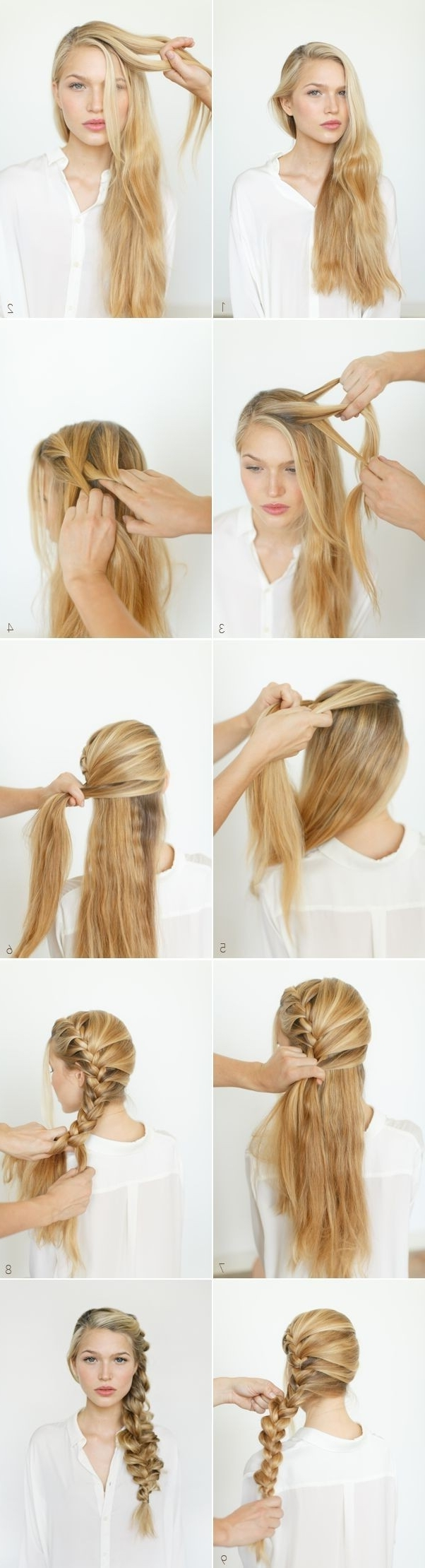 Most Popular Long Ponytails With Side Braid Throughout Stepstep Hairstyles For Long Hair: Long Hairstyles Ideas (View 12 of 20)