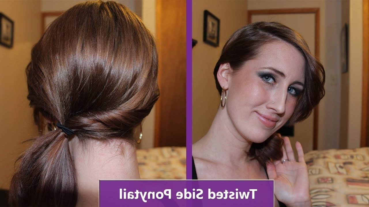 Most Popular Simple Messy Side Ponytail Hairstyles Within Side Ponytail For Short Hair – Youtube (View 2 of 20)