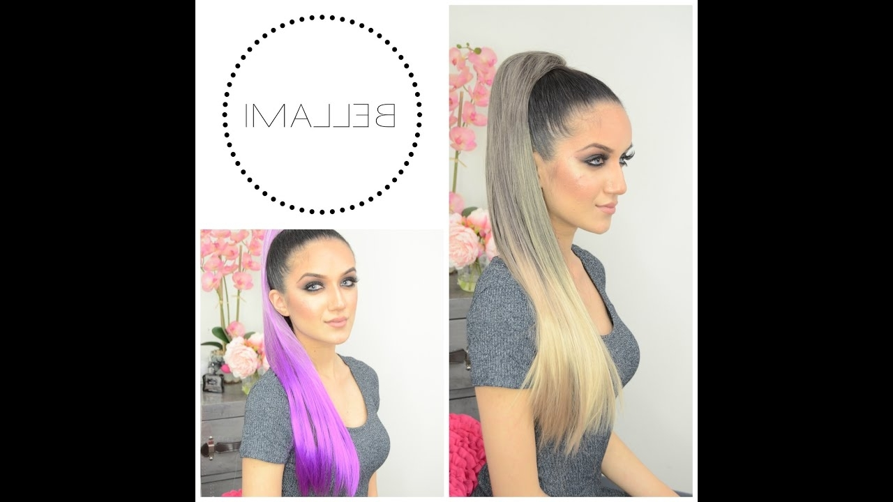 Most Popular Wrapped High Ponytails Pertaining To Bellami Clip + Wrap Pony Tutorial – Youtube (View 15 of 20)