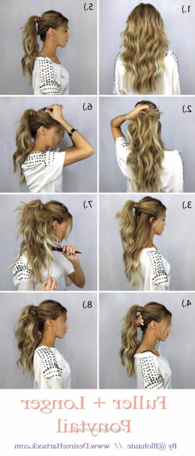 Most Recent Braided Glam Ponytail Hairstyles For Glam Ponytail Tutorials – How To Create A Fuller + Longer Ponytail (View 16 of 20)