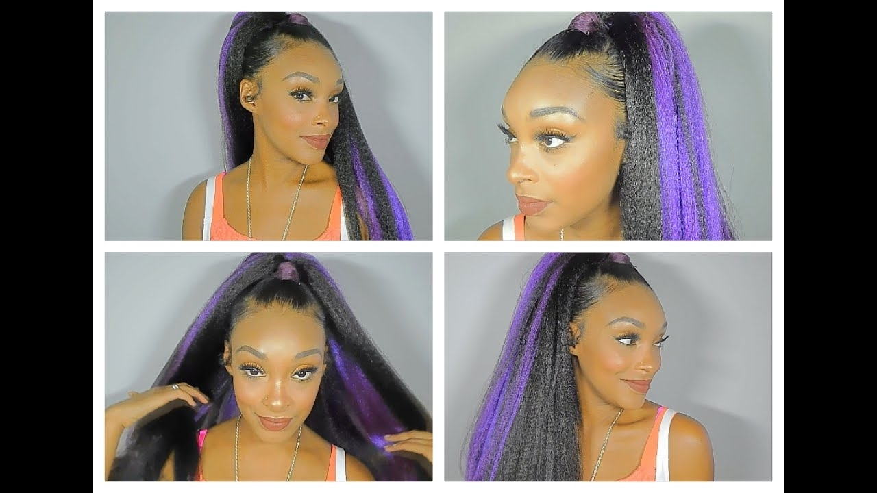 Featured Photo of Multicolored Jumbo Braid Ponytail Hairstyles